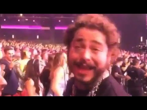 Post Malone Has The Time Of His Life During Shania Twain Show