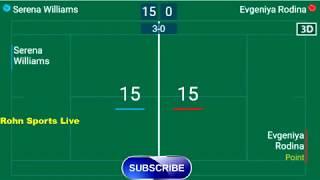 WILLIAMS S. vs RODINA E. Live Now Wimbledon 2018 - Score