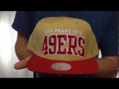 49ers  BLOCK-ARCH SNAPBACK  Gold-Red Hat by Mitchell   Ness - YouTube 203795b288cd