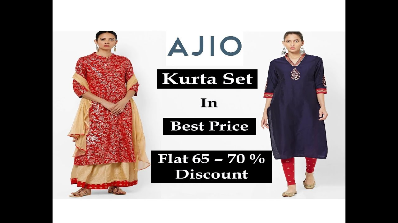 9d686005f6 Hugh discount sell up to 80%|AJIO kurta haul|summer collection try ...