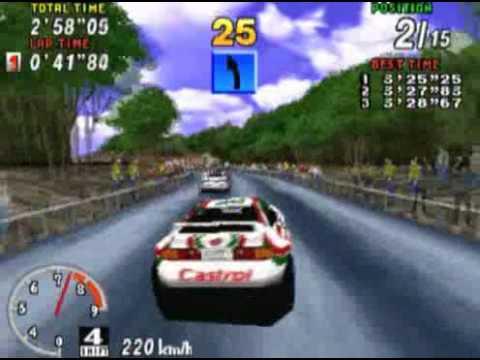 Vidéotest Sega Rally ( saturn )
