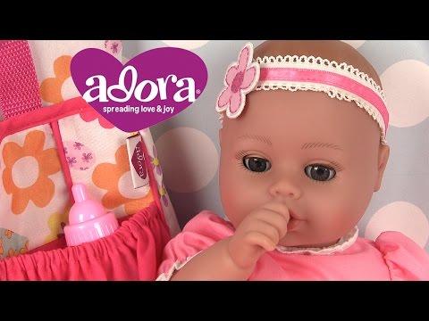 Poupon bébé Adora Baby Doll Sac à Langer Robe rose et bandeau Jouets pour enfants