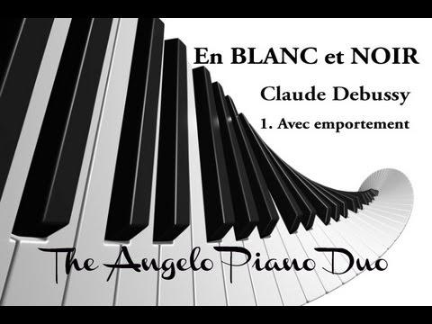 angelo piano duo en blanc et noir 1 2 claude debussy youtube. Black Bedroom Furniture Sets. Home Design Ideas