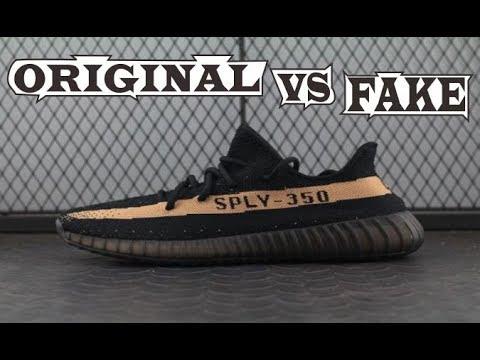 7109f55e31ca Adidas Yeezy Boost 350 V2 Black Copper Original   Fake - YouTube