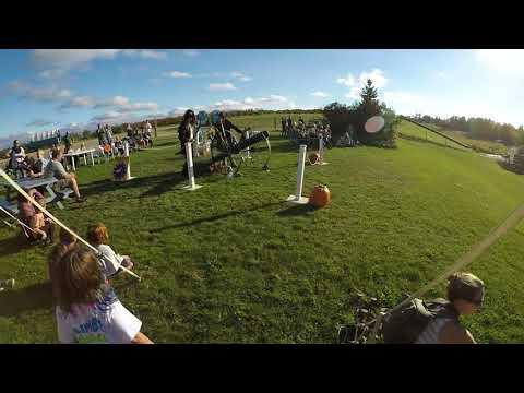 Pirates firing the pumpkin cannon at Hugli's!