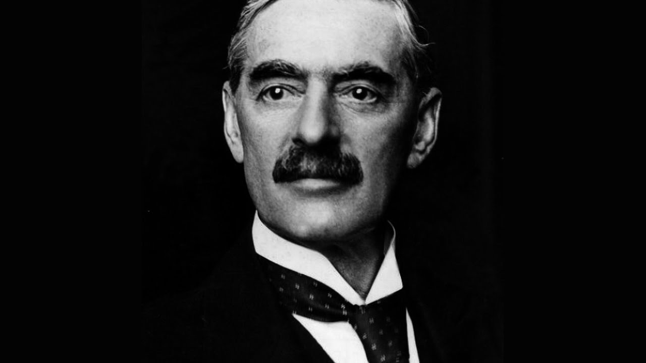 neville chamberlain special message around writing
