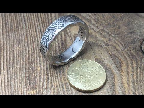 Croatian Coin Ring. 25 Kuna ring. REPUBLIKA HRVATSKA