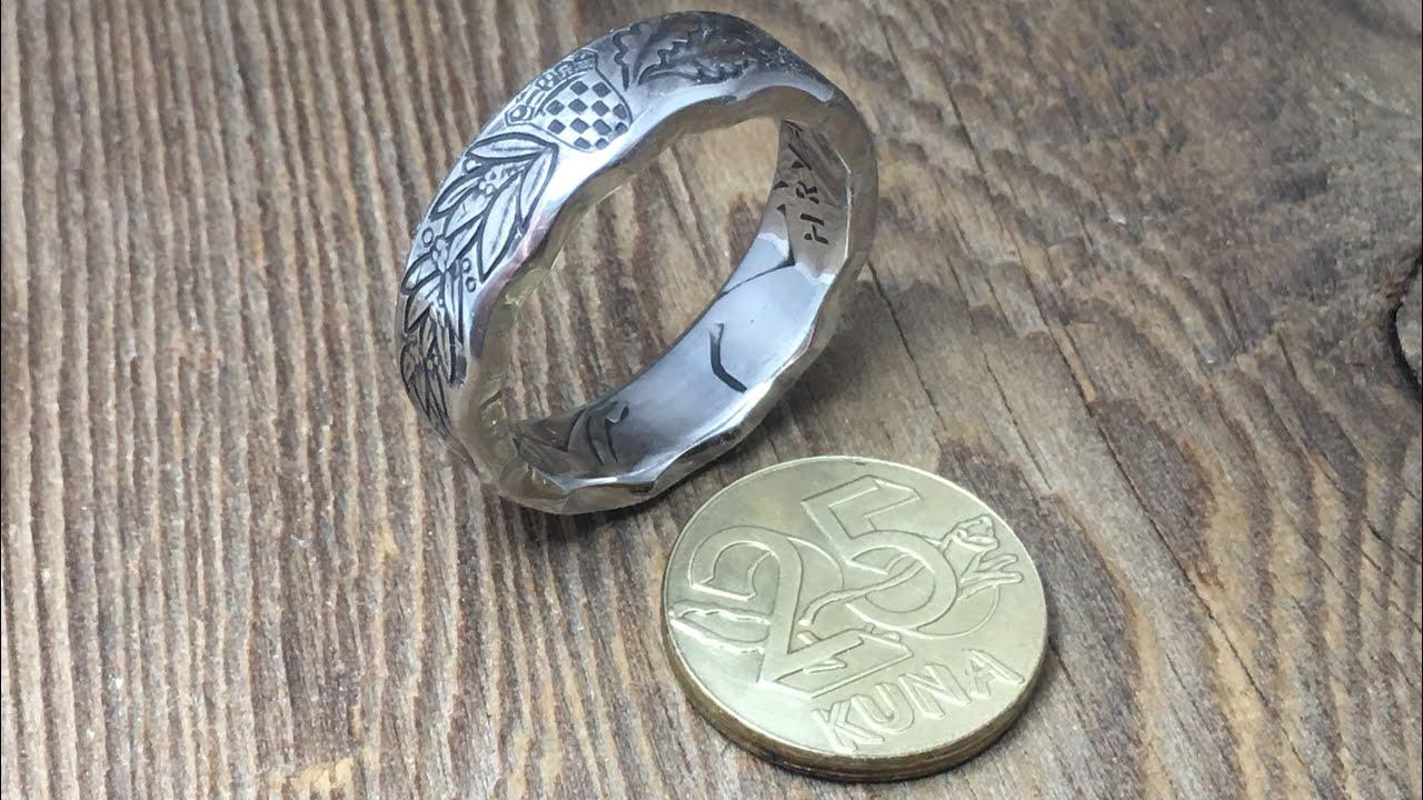 Croatian Coin Ring  25 Kuna ring  REPUBLIKA HRVATSKA