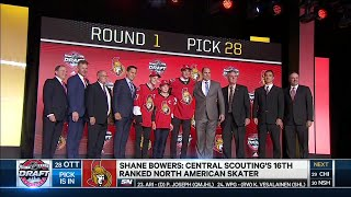 Sens snag 'safe' pick with Shane Bowers at 28