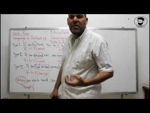 Education in the World Language in context 1 Conditional Type 1 2 3