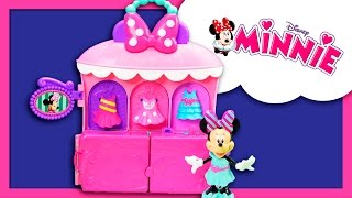MINNIE MOUSE Disney Minnie Mouse Sparkle and Spin Fashion Bow-tique Dress Toys Video