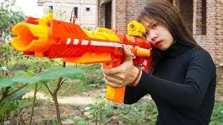Nerf War Games: Special Units Police Nerf Guns Hero Girl FBI Rescue Sister