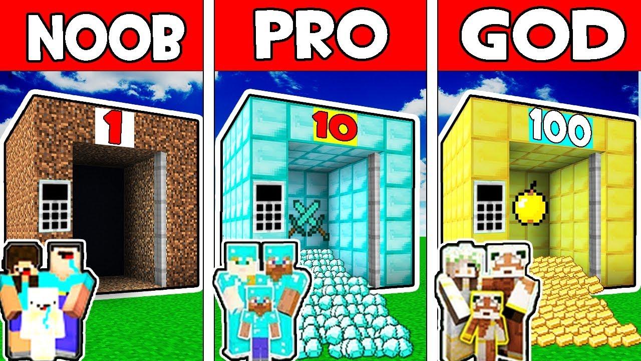 Minecraft - NOOB vs PRO vs GOD : FAMILY ELEVATOR ADVENTURE in Minecraft Animation