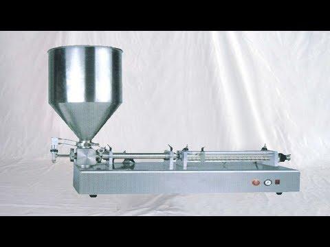 customized pneumatic filling machine for syringe filler tabletop with vertical hopper 定制型半自動針筒灌裝機
