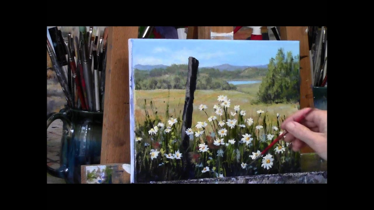 Eletragesi daisy acrylic painting images for How to paint with acrylics for beginners