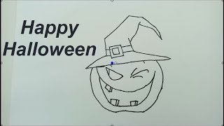How to draw Halloween Pumpkin Learn Colors with Drawing Coloring for Kids, Teach Colors For Toddlers