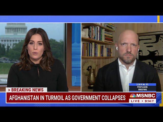 MSNBC - HALLIE JACKSON REPORTS: COLLAPSE OF AFGHANISTAN - AUGUST 16, 2021
