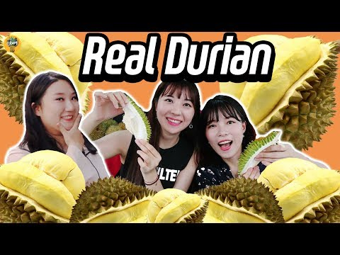 Korean Girls Tried 'Raw Durian' for the First Time!!!!|Blimey 블라이미
