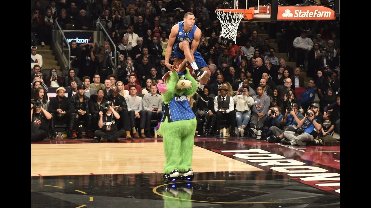 NBA All Star Dunk Contest 2016 - Final Round Zach LaVine vs Aaron Gordon - YouTube