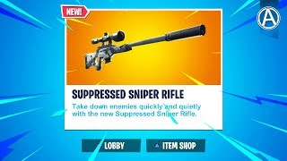 """NEW """"SUPPRESSED SNIPER RIFLE""""  // Pro Console Player // 1600+ Wins (Fortnite Battle Royale LIVE)"""