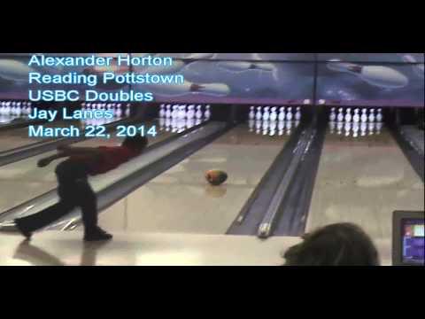 Alex Horton throws strike!!