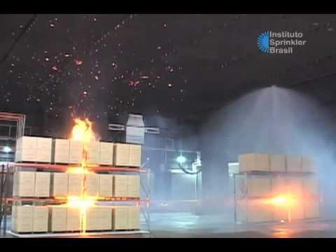 Uso de sprinklers contra incêndio