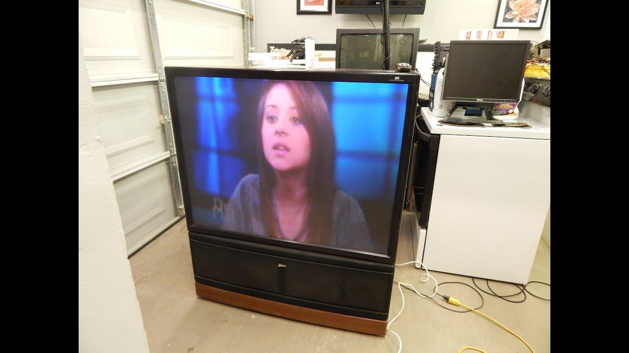 Zenith Pv4663rk Rear Projection Tv From My Grandma S House Youtube