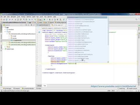 Android Login using Restful Web Services with Retrofit 2 - Android Studio Tutorial for Beginners