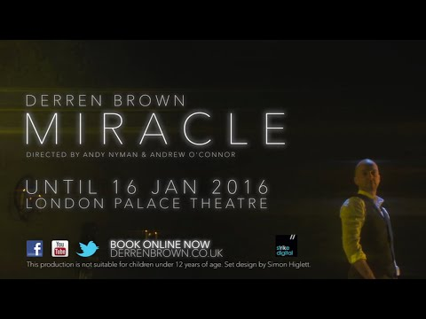 Miracle Trailer // BOOK NOW, visit derrenbrown.co.uk