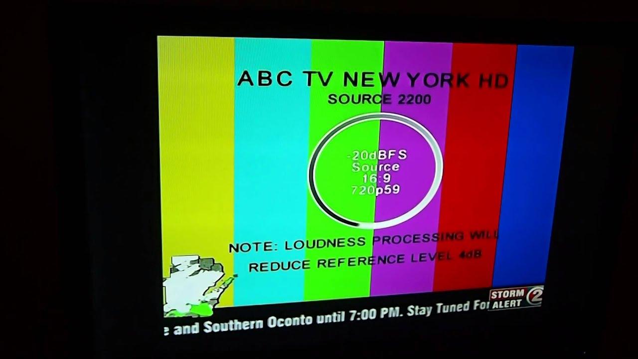 Creepy Test Pattern on WBAY-TV