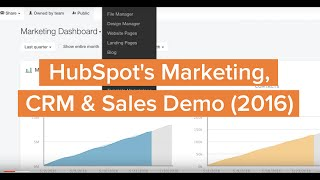 HubSpot's Marketing, CRM & Sales Demo (2016)
