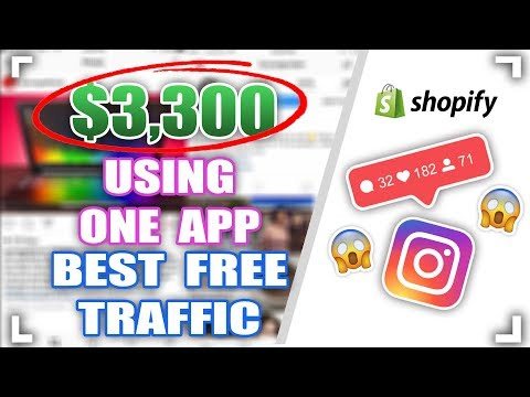 $3300 FROM ONE APP REVEALED! - BEST FREE TRAFFIC METHOD FOR SHOPIFY DROPSHIPPING thumbnail