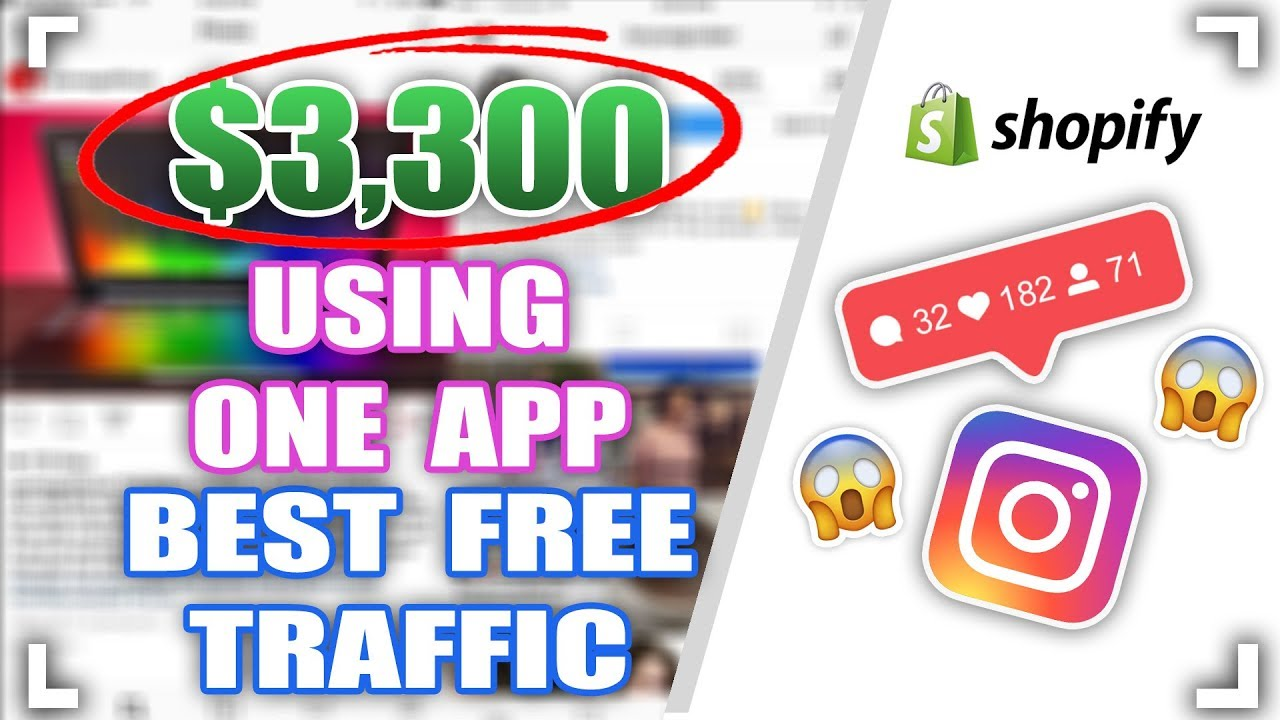 $3300 FROM ONE APP REVEALED! - BEST FREE TRAFFIC METHOD FOR SHOPIFY DROPSHIPPING
