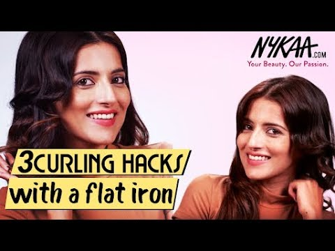 3 Ways To Curl Your Hair Using A Flat Iron Ft. Knot Me Pretty  | Nykaa