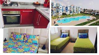 جولة في شقة المصيف بكابو نيكرو 😊😊☝☝من أجمل المناطق السياحية بتطوان👍👍