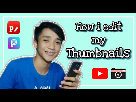 How to make YouTube Thumbnails + How to add thumbnails in YouTube videos ( Tagalog)