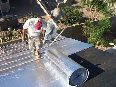 aluminium foil pada baja ringan cara pemasangan insulasi panas atap bangunan youtube