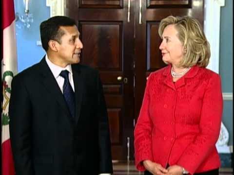 Secretary Clinton Meets With Peruvian President-elect Ollanta Humala
