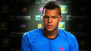 Tsonga Relieved After Fish Win In Indian Wells