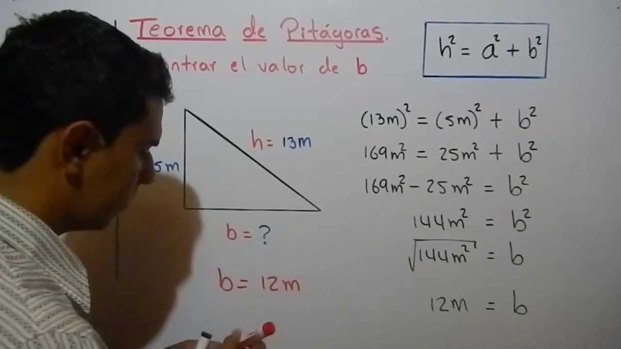explicaci243n del teorema de pit225goras ejemplo 2 youtube
