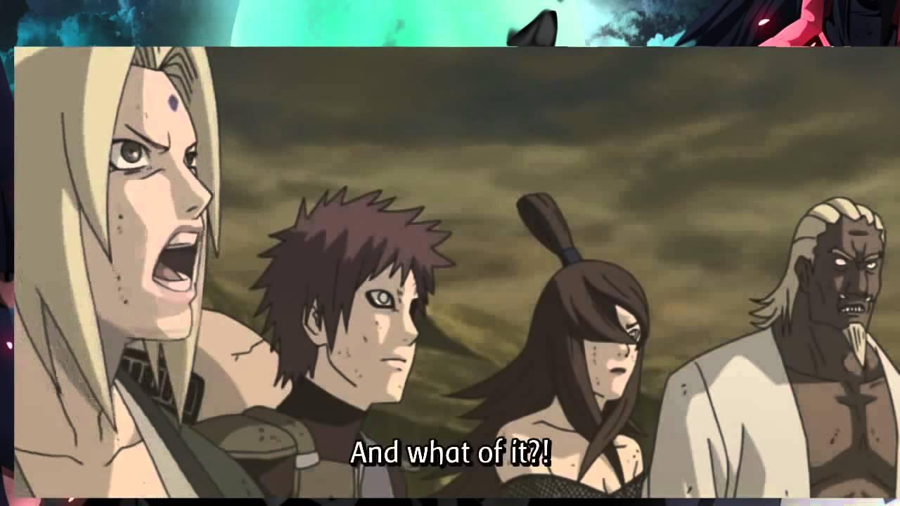 Uchiha Madara vs Naruto and 5 Kages Full Fight