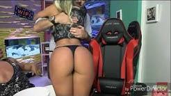 Aline Mineiro, Carol Dias e Babi Muniz dançando - Live do Pânico 14/08/2016