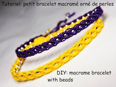 Hervorragend Tutoriel: petit bracelet macramé orné de perles (DIY: macrame  KF52
