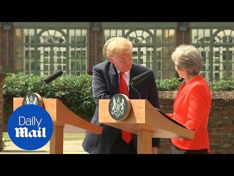 Full press conference: Donald Trump and Theresa May meet journalists at Chequers