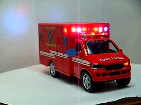 Red ambulance vehicle
