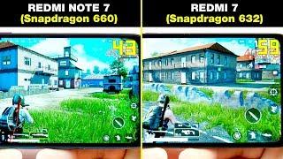 REDMI NOTE 7 (Snapdragon 660) vs REDMI 7 (Snapdragon 632) БОЛЬШОЕ СРАВНЕНИЕ В ИГРАХ! FPS + НАГРЕВ