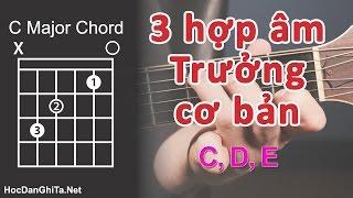 Bài 7: Hướng dẫn cách bấm 3 hợp âm TRƯỞNG | Cơ bản cho người mới học đàn guitar