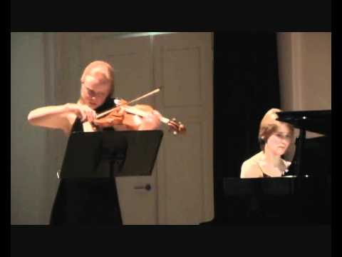 Brahms sonata for violin and piano op.108 (2), d minor Anna Markova, Oksana Svekla