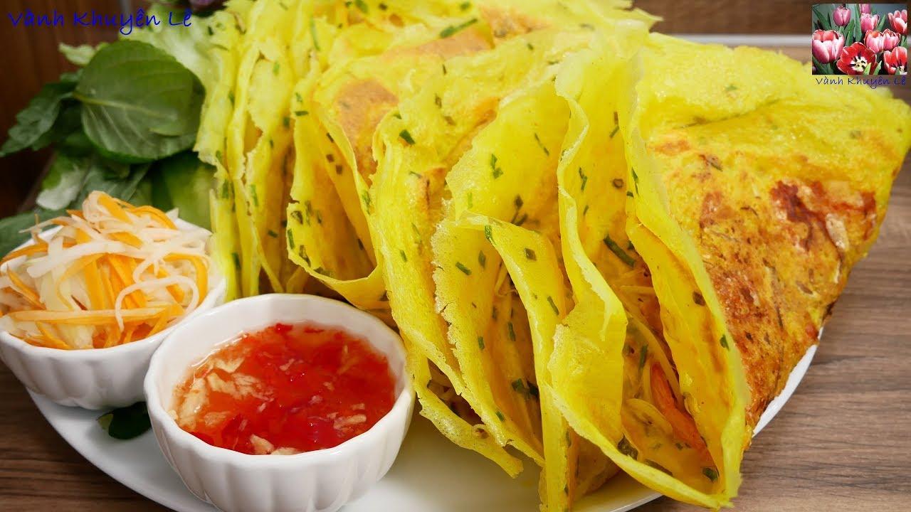 BÁNH XÈO GIÒN – Cách pha Bột để đổ bánh Xèo Miền Nam rất giòn và không ngấm Dầu by Vanh Khuyen