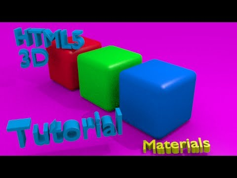 HTML5 3D Basic Mesh Material with Threejs Linux Tutorial